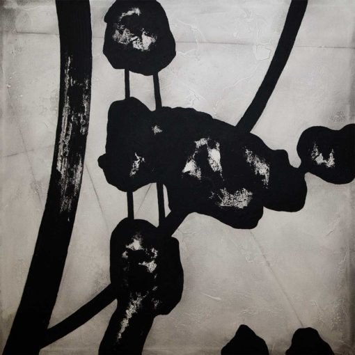 Chandelier - Original black and white painting by Robert Slivchak