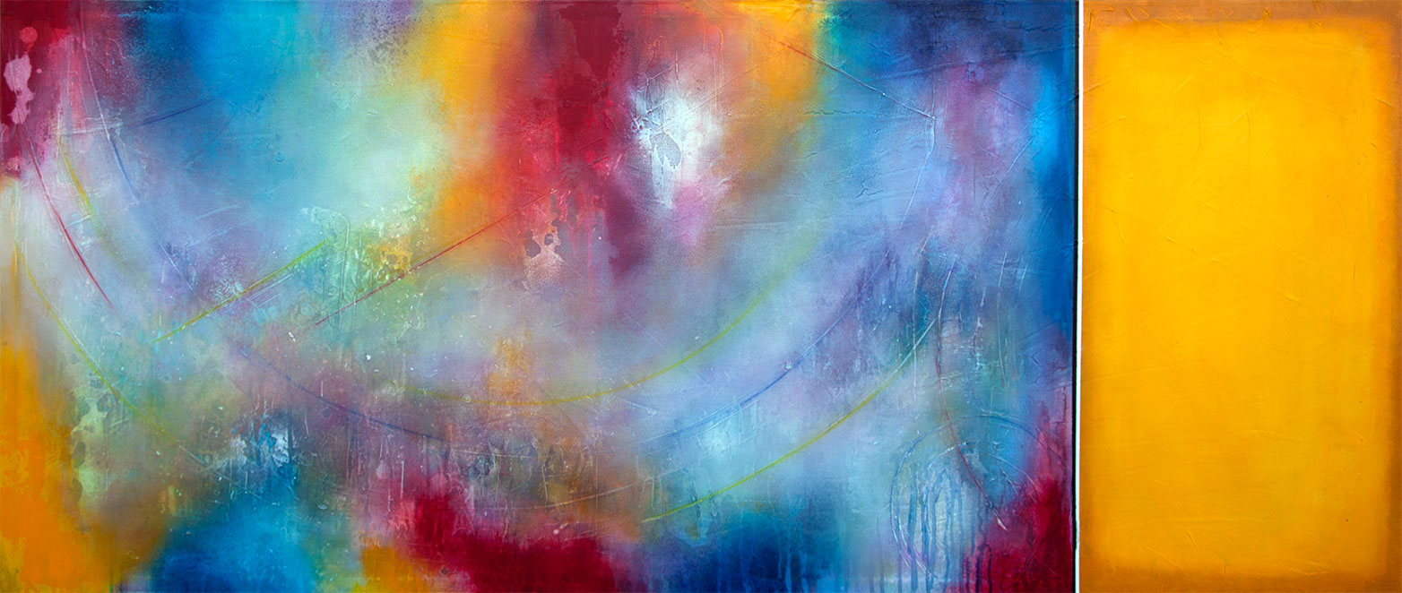 Original Abstract Expressionism Painting by Robert Slivchak